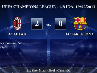 UEFA Champions League - 1/8 IDA - 20/02/2013 - AC Milan (2) vs. (0) FC Barcelona