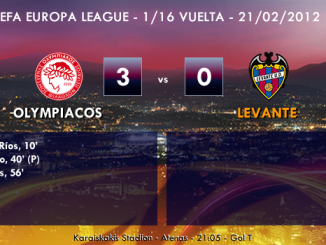 UEFA Europa League – 1/16 VUELTA – 21/02/2013 - Olympiacos (0) vs. (1) Levante