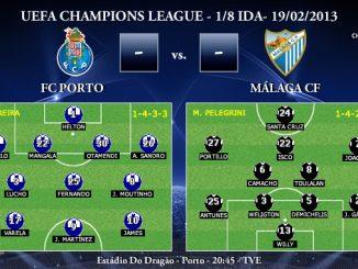 UEFA Champions League - 1/8 IDA - 19/02/2013 - FC Porto vs. Málaga CF (Previa)