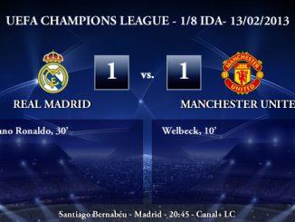 UEFA Champions League - 1/8 IDA - 13/02/2013 - Real Madrid (1) vs. (1) Manchester United