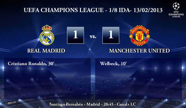 UEFA Champions League - 1/8 IDA - 13/02/2013 - Real Madrid (1) vs. (1) Manchester United