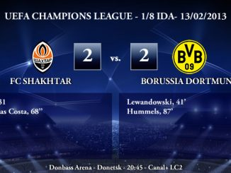 UEFA Champions League - 1/8 IDA - 13/02/2013 - Shakhtar Donetsk (2) vs. (2) Borussia Dortmund