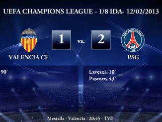 UEFA Champions League - 1/8 IDA - 12/02/2013 - Valencia CF (1) vs. (2) PSG