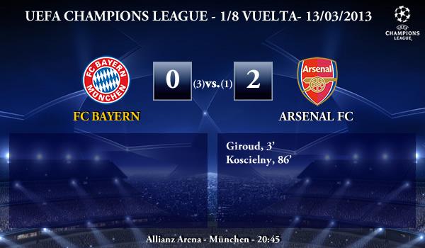 UEFA Champions League - 1/8 VUELTA - 13/03/2013 - FC Bayern (0) vs. (2) Arsenal