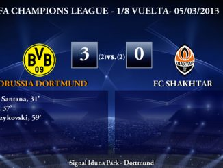 UEFA Champions League - 1/8 VUELTA - 05/03/2013 - Borussia Dortmund (3) vs. (0) Shakhtar Donetsk