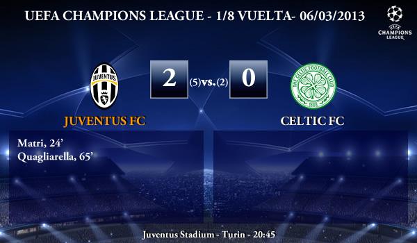 UEFA Champions League - 1/8 VUELTA - 06/03/2013 - Juventus (2) vs. (0) Celtic