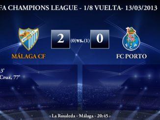 UEFA Champions League - 1/8 VUELTA - 14/03/2013 - Málaga CF (2) vs. (0) FC Porto
