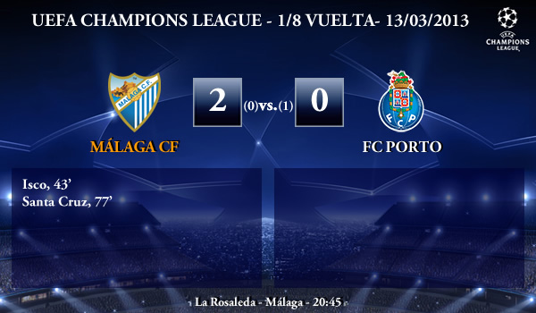UEFA Champions League – 1/8 VUELTA – 14/03/2013 – Málaga CF (2) vs. (0) FC Porto