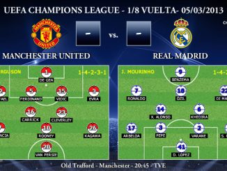 UEFA Champions League - 1/8 VUELTA - 05/03/2013 - Manchester United vs. Real Madrid (Previa)