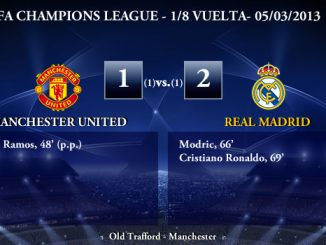 UEFA Champions League - 1/8 VUELTA - 05/03/2013 - Manchester United (1) vs. (2) Real Madrid