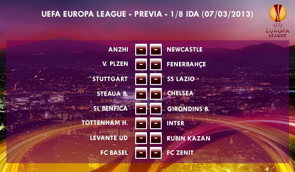 UEFA Europa League – 1/8 IDA – 07/03/2013 – Previa