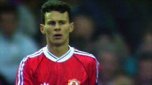 Ryan Giggs, el día de su debut con el Manchester United, el 2 de marzo de 1991 frente al Everton