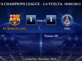 UEFA Champions League - 1/4 VUELTA - 10/04/2013 - FC Barcelona (1) vs. (1) PSG