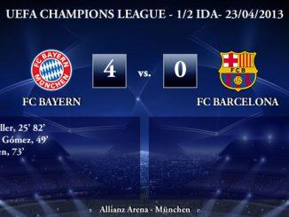 UEFA Champions League - Semifinales IDA - 23/04/2013 - FC Bayern (4) vs. (0) FC Barcelona