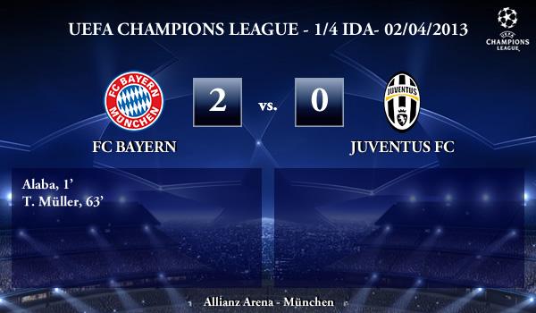UEFA Champions League - 1/4 IDA - 02/04/2013 - FC Bayern (2) vs. (0) Juventus FC