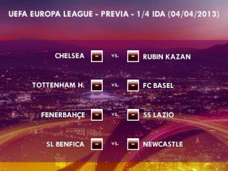 UEFA Europa League – 1/4 IDA - 04/04/2013 – Previa