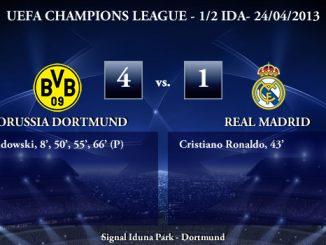 UEFA Champions League - 1/2 IDA - 24/04/2013 - Borussia Dortmund (4) vs. (1) Real Madrid