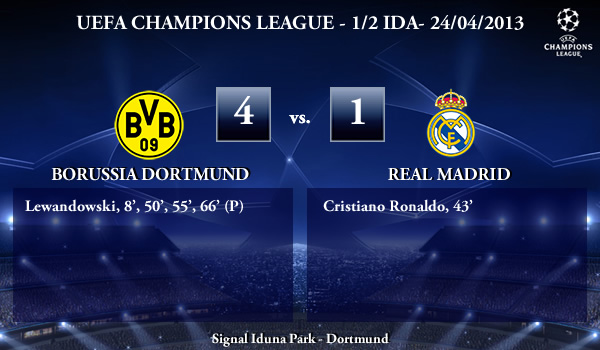 UEFA Champions League - 1/2 IDA - 24/04/2013 - Borussia Dortmund (4) vs. (1) Real Madrid