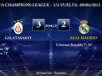 UEFA Champions League - 1/4 VUELTA - 09/04/2013 - Galatasaray (3) vs. (2) Real Madrid
