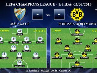 UEFA Champions League - 1/4 IDA - 03/04/2013 - Málaga CF vs. Borussia Dortmund (Previa)