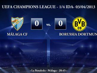 UEFA Champions League - 1/4 IDA - 03/04/2013 - Málaga CF (0) vs. (0) Borussia Dortmund