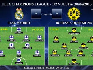 UEFA Champions League - 1/2 VUELTA - 30/04/2013 - Real Madrid vs. Borussia Dortmund (Previa)