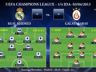 UEFA Champions League - 1/4 IDA - 03/04/2013 - Real Madrid vs. Galatasaray (Previa)