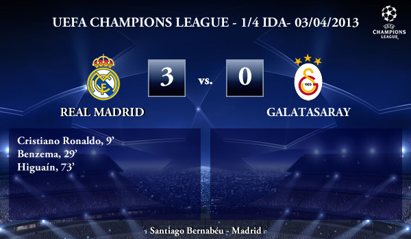 UEFA Champions League - 1/4 IDA - 03/04/2013 - Real Madrid (3) vs. (0) Galatasaray