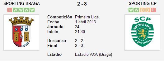Sporting de Braga 2-3 Sporting de Portugal - Liga Zon Sagres (Jornada 24)