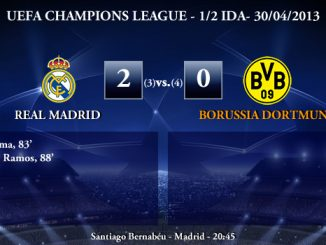 UEFA Champions League - 1/2 VUELTA - 30/04/2013 - Real Madrid (2) vs. (0) Borussia Dortmund