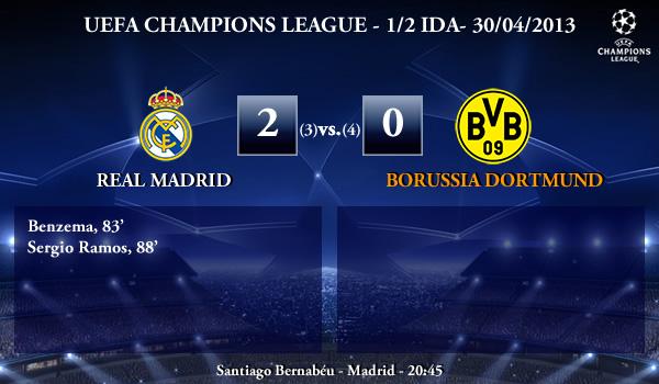 UEFA Champions League - 1/2 VUELTA - 30/04/2013 - Real Madrid (2) vs. (0) Borussia Dortmund