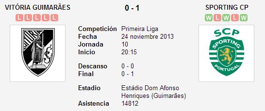 Vitória Guimarães vs. Sporting CP   24 noviembre 2013   Soccerway