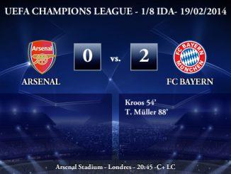 UEFA Champions League - 1/8 IDA - 19/02/2013 - Arsenal (0) vs. (2) FC Bayern
