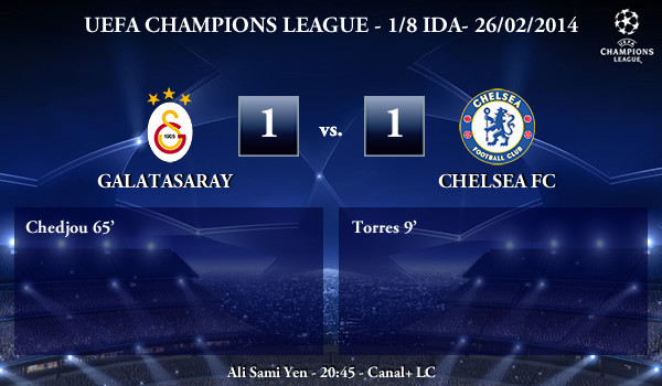 UEFA Champions League - 1/8 IDA - 26/02/2013 - Galatasaray (1) vs. (1) Chelsea