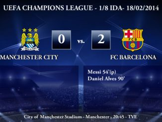 UEFA Champions League - 1/8 IDA - 18/02/2013 - Manchester City (0) vs. (2) FC Barcelona