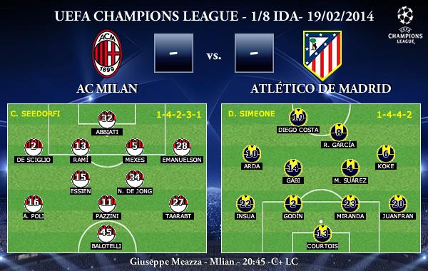 UEFA Champions League - 1/8 IDA - 19/02/2013 - AC Milan vs. Atlético de Madrid