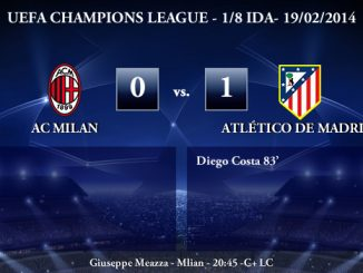 UEFA Champions League - 1/8 IDA - 19/02/2013 - AC Milan (0) vs. (1) Atlético de Madrid