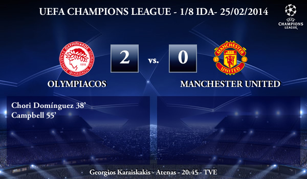 UEFA Champions League – 1/8 IDA – 25/02/2013 – Olympiacos (2) vs. (0) Manchester United