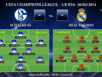 UEFA Champions League - 1/8 IDA - 26/02/2013 - Schalke 04 vs. Real Madrid