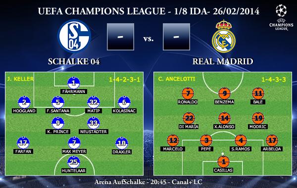 UEFA Champions League - 1/8 IDA - 26/02/2013 - Schalke 04 vs. Real Madrid
