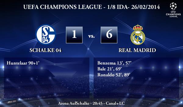 UEFA Champions League - 1/8 IDA - 26/02/2013 - Schalke 04 (1) vs. (6) Real Madrid