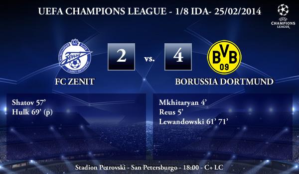 UEFA Champions League - 1/8 IDA - 25/02/2013 - FC Zenit (2) vs. (4) Borussia Dortmund