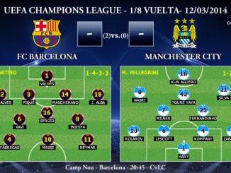 UEFA Champions League - 1/8 VUELTA - 12/03/2013 - FC Barcelona vs Manchester City