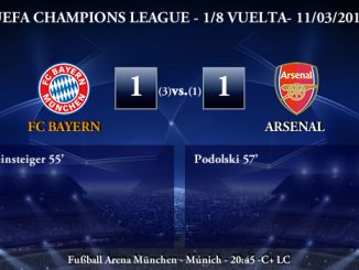 UEFA Champions League - 1/8 VUELTA - 11/03/2014 - FC Bayern (1) vs (1) Arsenal