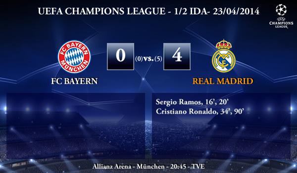 UEFA Champions League - 1/2 VUELTA - 29/04/2014 - FC Bayern 0 vs 3 Real Madrid
