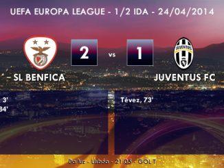 UEFA Europa League - 1/2 IDA - 24/04/2014 - Benfica 2 vs 1 Juventus