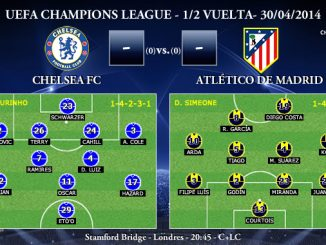UEFA Champions League - 1/2 VUELTA - 30/04/2014 - Chelsea vs Atlético de Madrid