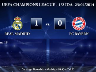UEFA Champions League - 1/2 IDA - 23/04/2014 - Real Madrid 1 vs 0 FC Bayern