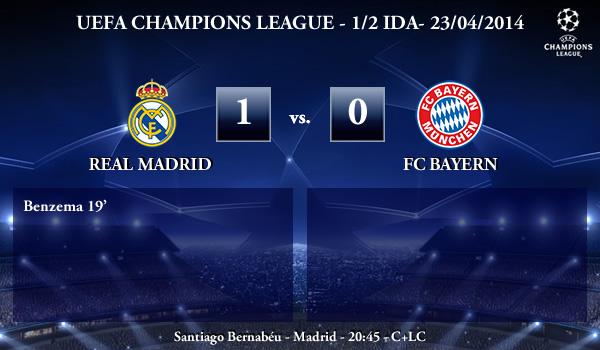 UEFA Champions League - 1/2 IDA - 23/04/2014 - Real Madrid 1 vs 0 FC Bayern