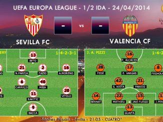 UEFA Europa League - 1/2 IDA - 24/04/2014 - Sevilla vs Valencia